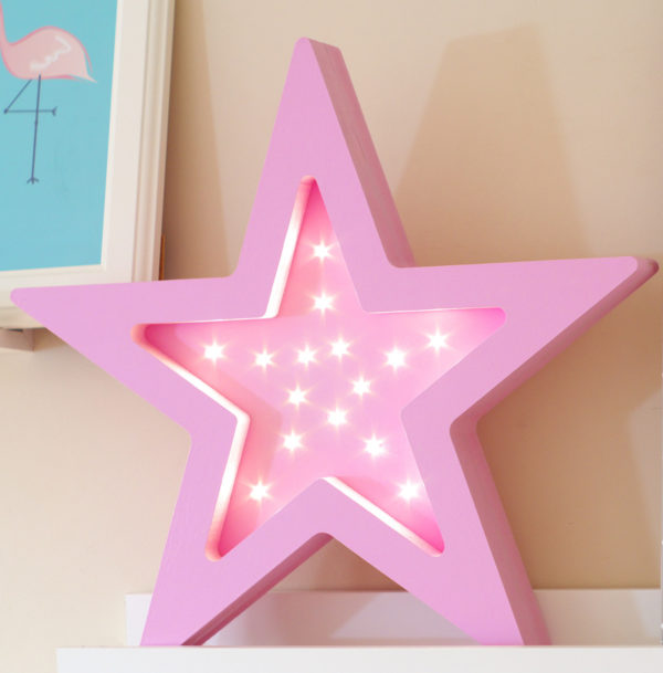 LED star lamp for kids