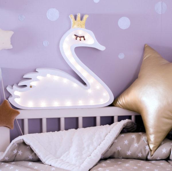 lampka łabądź led nocna