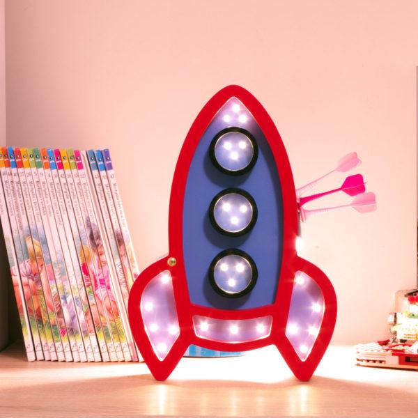 rakieta lampka nocna